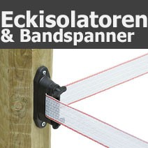 Eckisolatoren/Bandspanner